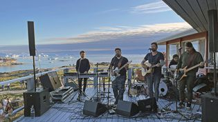Nanook en concert à l'hotel Arctic d'Illulissat en juin 2021 (©Marie Hervieu)