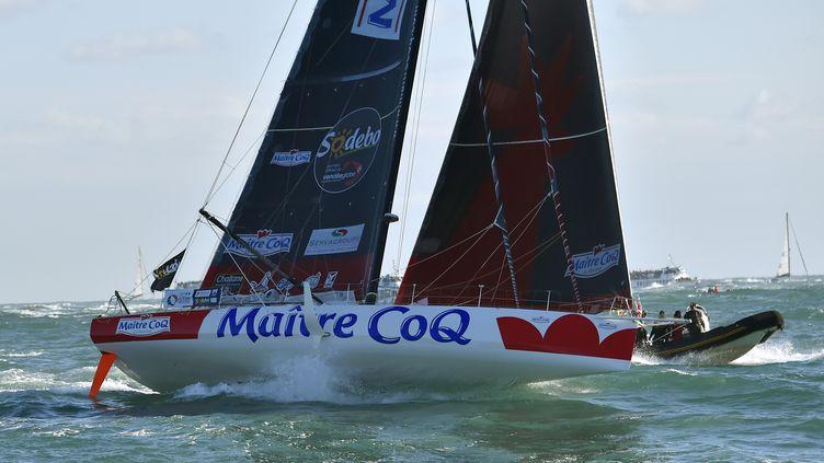 Jérémie Beyou sur Maître Coq (LOIC VENANCE / AFP)