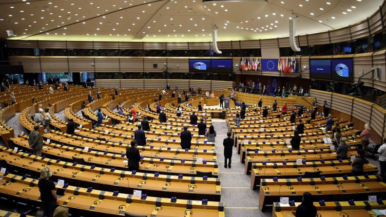 Les députés européens en session au Parlement européen, à Bruxelles, le 17 juin 2020. (DURSUN AYDEMIR / ANADOLU AGENCY)