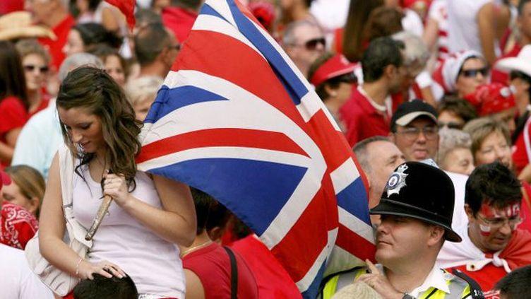 10 septembre 2006. Jour de la fête nationale qui marque l'anniversaire d'un référendum le 10 septembre 1967, lorsque seulement 44 personnes du territoire britannique avaient voté en faveur du rattachement du territoire à l'Espagne. (JOSE LUIS ROCA / AFP)