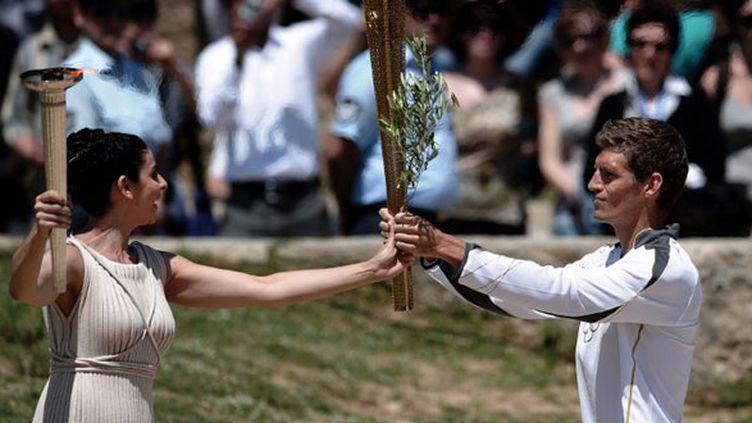 La torche olympique