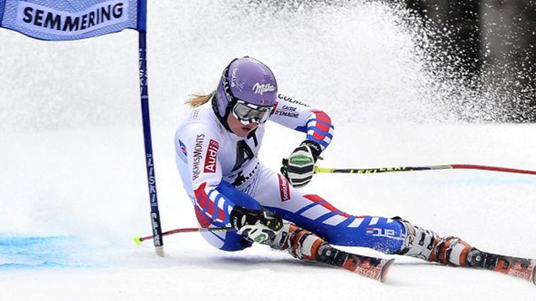 Tessa Worley à Semmering. (SAMUEL KUBANI / AFP)