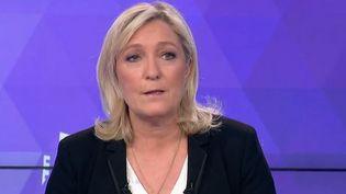 La présidente du Front national interviewée sur France 3, le 26 mars 2015. (FRANCE 3 )
