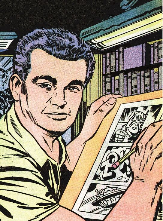 Jack Kirby - autoportrait (1971-2018 DC COMICS. All Rights Reserved)