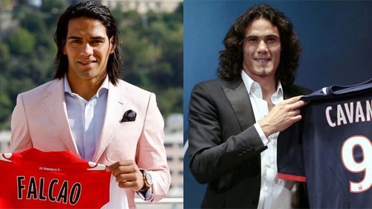 Radamel Falcao (AS Monaco) et Edinson Cavani (Paris SG) sont les deux plus gros transferts de Ligue 1.