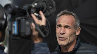 L'explorateur sud-africain Mike Horn, le 19 mai 2019, aux Sables d'Olonne (Vendée). (OLIVIER BLANCHET / AFP)