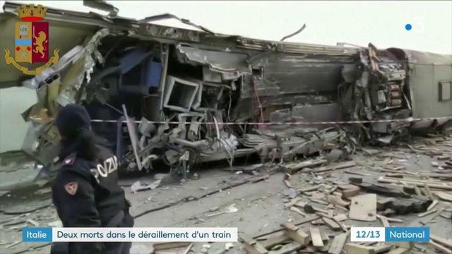 Italien : le spectaculaire déraillement d'un train au sud de Milan