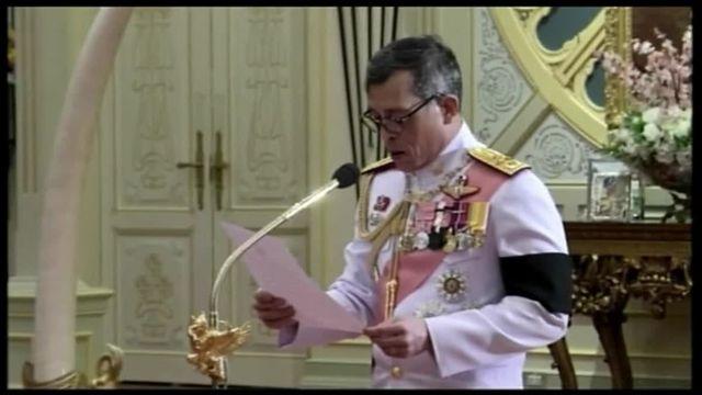 Le prince de Thailande accepte la charge de roi