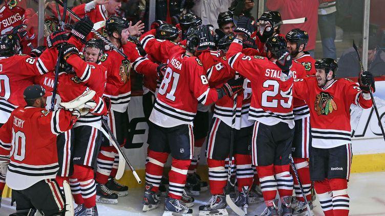 Les joueurs de Chicago célèbrent un but (JONATHAN DANIEL / GETTY IMAGES NORTH AMERICA)