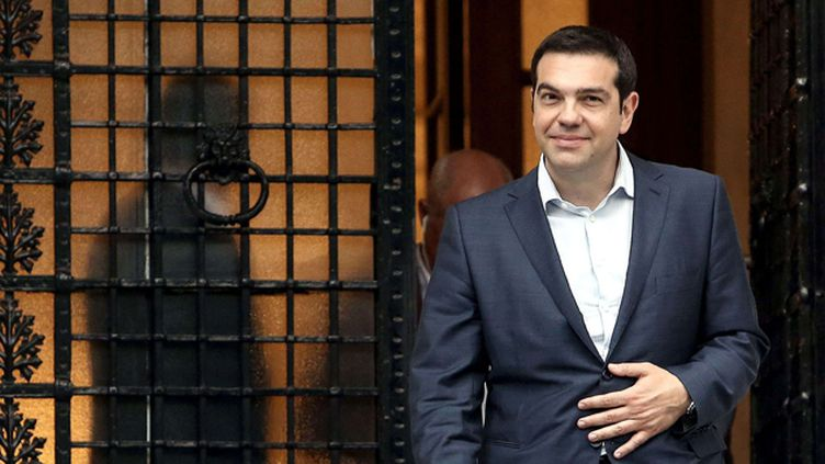 (Journée cruciale pour la Grèce d'Alexis Tsipras, le Premier ministre grec © Sipa)