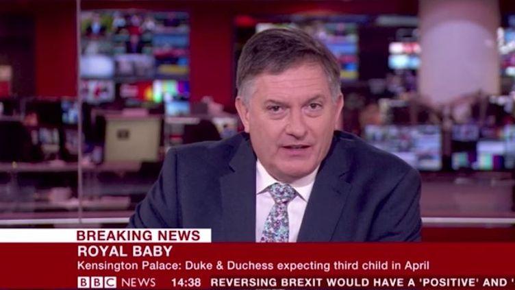 Capture d'écran du présentateur de la BBC,Simon McCoy, le 17 octobre 2017. (BBC)
