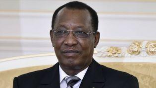 Le président tchadien, Idriss Déby Itno, affirme que son pays est prêt à toute éventualité. Il a déclaré zone militaire les trois régions de la frontière Nord avec la Libye. (Photo AFP/Miguel Medina)