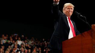 Donald Trump lors d'un meeting à Des Moines (Iowa, Etats-Unis), le 8 décembre 2016. (SHANNON STAPLETON / REUTERS)