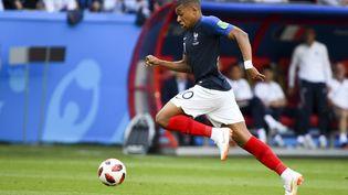 Kylian Mbappé, attaquant de l'équipe de France, lors du match France-Argentine, à Kazan, en Russie, le 30 juin 2018, pour la Coupe du Monde 2018. (ANDREW SURMA / NURPHOTO)