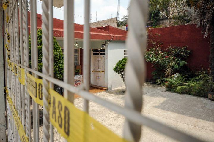 Maison de la journaliste Regina Martínez à Xalapa, Veracruz prise le lendemain de son assassinat. (RUBÉN ESPINOSA / PROCESOFOTO)