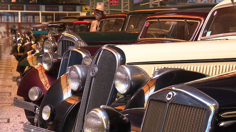 Le musée de l'automobile de Reims-Champagne dispose d'une collection de plus de 250 véhicules. (CAPTURE D'ÉCRAN FRANCE 3 / R. DOUMERGUE)