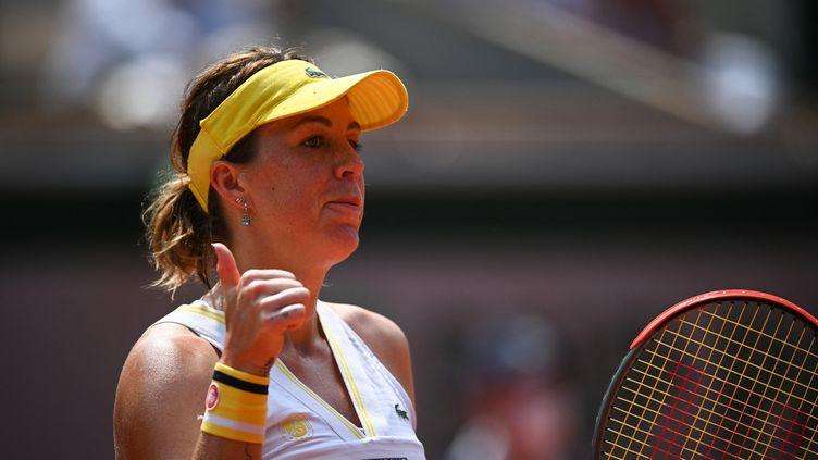 Anastasia Pavlyuchenkova s'est qualifiée en demi-finale de Roland-Garros. (ANNE-CHRISTINE POUJOULAT / AFP)