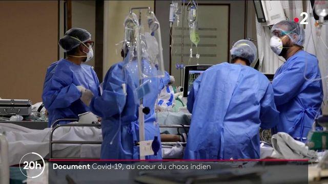 Covid-19 : immersion au cœur d'un hôpital saturé à New Delhi, en Inde