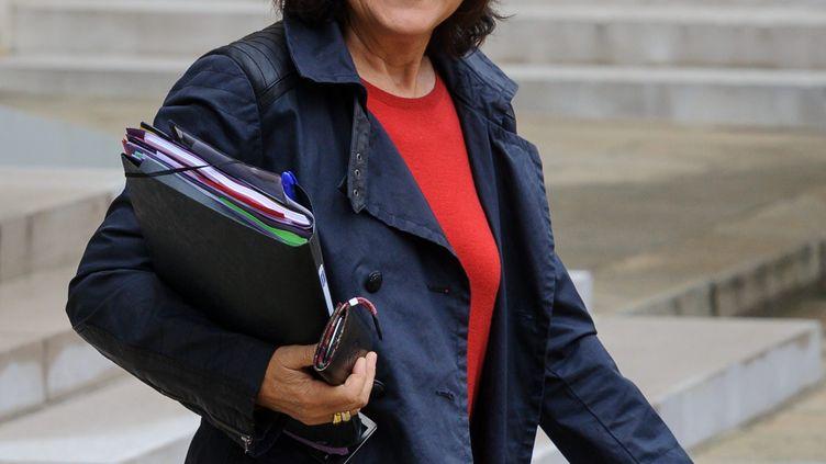 La ministre déléguée aux Personnes handicapées et à la Lutte contre l'exclusion, Marie-Arlette Carlotti, le 10 octobre 2012 à l'Elysée. (MAXPPP)