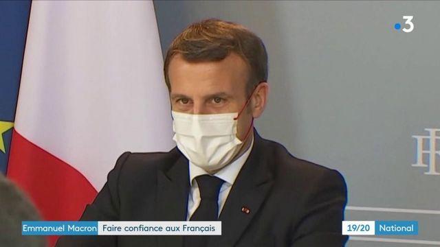 """Covid-19 : Emmanuel Macron veut """"faire confiance"""" aux Français"""