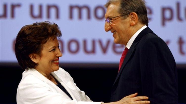 Jean-Pierre Davant avec la ministre de la Santé, Roselyne Bachelot, en 2009 lors du congrès de la Mutualité française (AFP/)