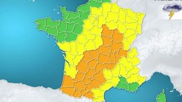 Orages : une partie de la France en vigilance orange