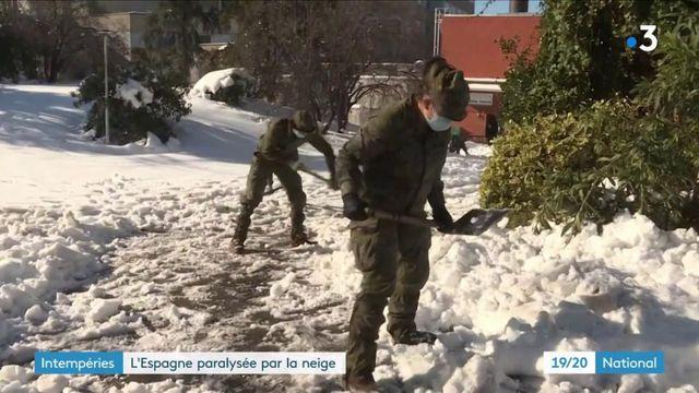 Espagne : Madrid toujours paralysée par la neige