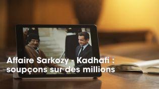 """Le numéro de """"Cash Investigation"""" consacré à l'affaire de financement libyen présumé de la campagne de Nicolas Sarkozy a été diffusé le mardi 22 mai 2018 sur France 2. (CAPTURE ECRAN / CASH INVESTIGATION / FRANCE 2)"""