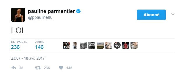 Le tweet de Parmentier