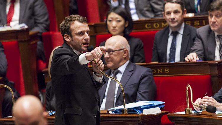 Le ministre de l'Economie Emmanuel Macron à l'Assemblée nationale le 17 février 2015. (CITIZENSIDE/AURÉLIEN MORISSARD / AFP)