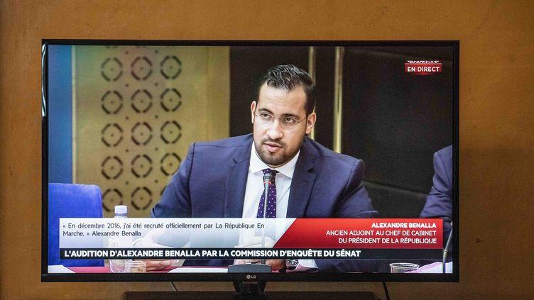 Alexandre Benalla devant la commission des lois du Sénat, le 19 septembre 2018. (MAXPPP)