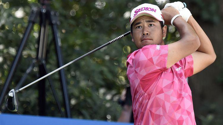 Hideki Matsuyama, le golfeur japonais qui a remportéle prestigieux Masters d'Augusta auxÉtats-Unis, dimanche 11 avril 2021. (ALFREDO ESTRELLA / AFP)