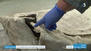 Un sarcophage du IVe siècle découvert à Arras (France 3 Nord Pas-de-Calais)