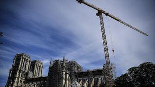 La reconstruction de Notre-Dame de Paris. (CHRISTOPHE ARCHAMBAULT / AFP)