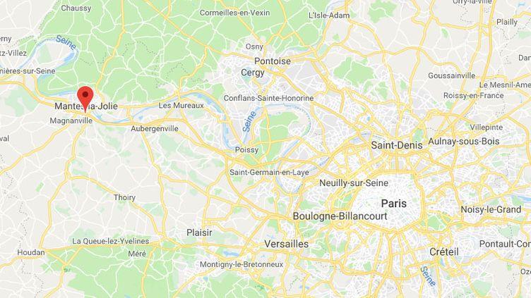 32 jeunes ont été placés en garde à vue après une bagarre entre bandes rivales à Mantes-la-Ville. (GOOGLE MAPS)