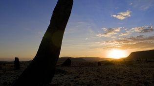 Sur le site de la cité antique d'Axoum, dans le nord de l'Ethiopie (31 août 2009) (AFP - GUIZIOU FRANCK / HEMIS.FR)