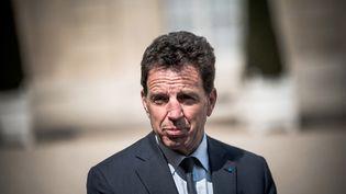 Le président du Medef,Geoffroy Roux de Bézieux, le 29 avril 2021 à Paris. (ARTHUR NICHOLAS ORCHARD / HANS LUCAS / AFP)