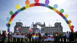 Manifestation pour la journée internationale contre l'homophobie devant le Bundestag à Berlin, le 17 mai 2017. (STEFAN BONESS/IPON/SIPA / IPON)