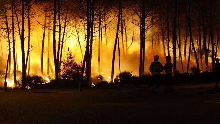 Un feu de forêt à Leiria, au Portugal, le 15 octobre 2017. (KEVIN FLORES / CITIZENSIDE / AFP)
