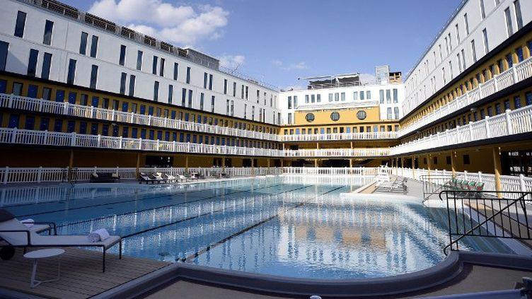 La bassin d'été de la piscine Molitor qui rouvre ce 19 mai  (Franck Fife / AFP)