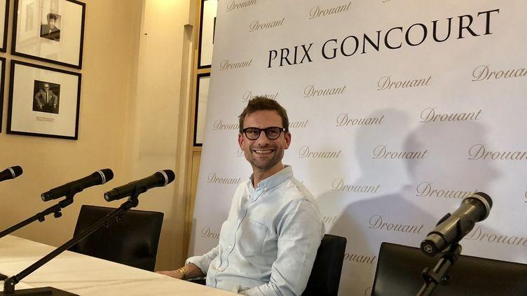 L'écrivain Nicolas Mathieu lors de la remise du prix Goncourt 2018  (Manon Botticelli)