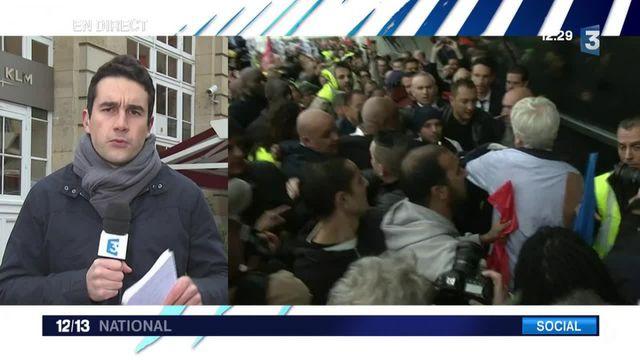 Air France : mise à pied des cinq salariés poursuivis pour violences