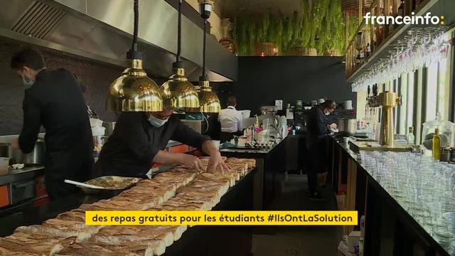 Bordeaux : des étudiants dégustent des plats gratuits d'un chef étoilé