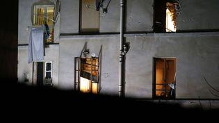 L'immeuble de Saint-Denis (Seine-Saint-Denis) où s'est déroulé l'assaut du Raid, le18 novembre 2015. (MICHEL EULER / AP / SIPA)