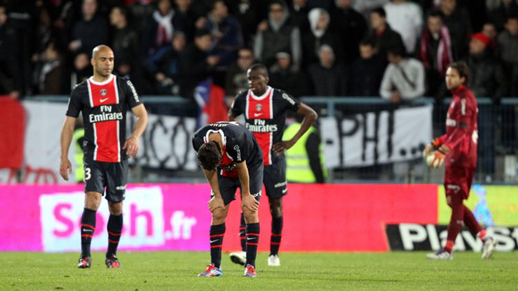 Les joueurs du PSG frustrés (JEAN-BAPTISTE QUENTIN / TEAMSHOOT)