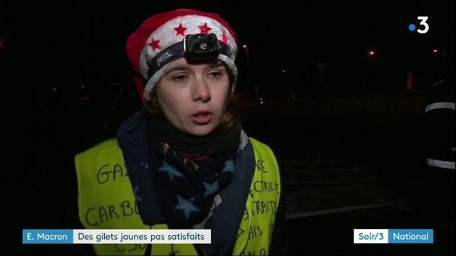 """Des """"gilets jaunes"""" pas du tout convaincus par Emmanuel Macron"""
