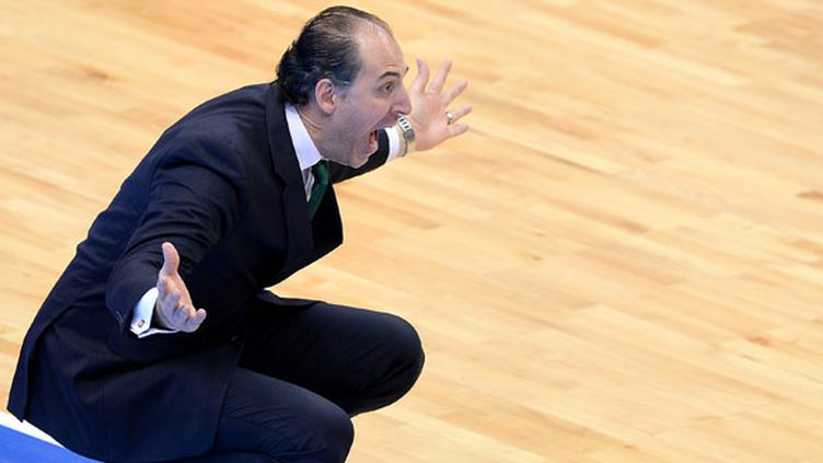 Jean-Marc Dupraz, l'entraineur de Limoges (ALEXEY FILIPPOV / RIA NOVOSTI)