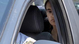 Carola Rackete lors de son arrivée au tribunal d'Agrigente, en Sicile (Italie), le 1er juillet 2019. (GIOVANNI ISOLINO / AFP)