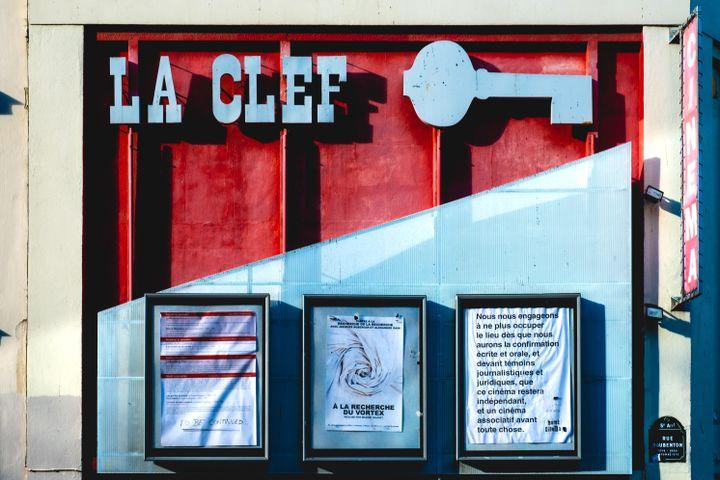 Le cinéma La Clef à Paris. (UGO PADOVANI / HANS LUCAS)