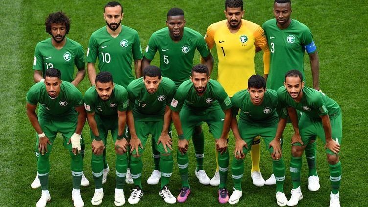 L'équipe d'Arabie Saoudite au Mondial 2018 (MLADEN ANTONOV / AFP)